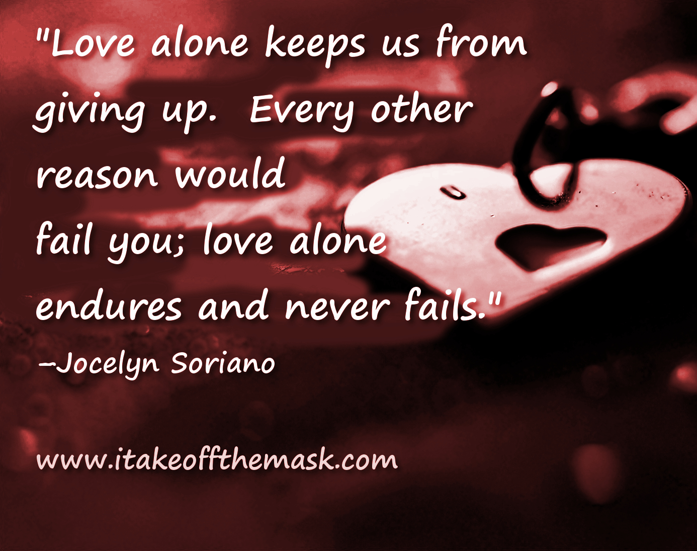 Love Keeps Us From Giving Up