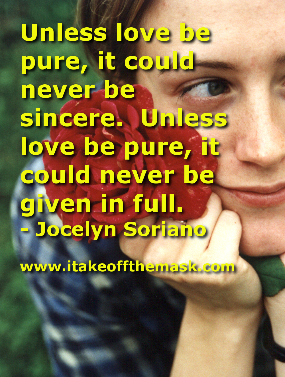 To Love With a Pure Heart