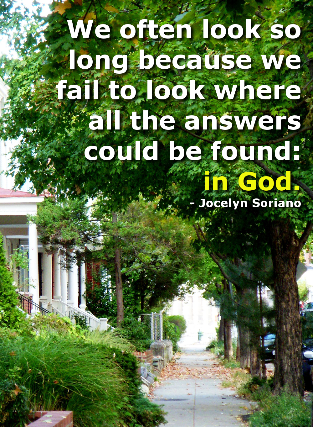 Find The Answers in God