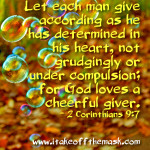 To Give and Be Joyful!