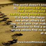 The Reality of Faith